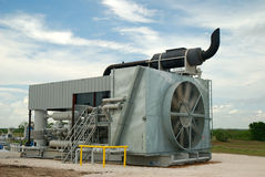 Gas Compressor. Used to process gas for pipeline distribution Stock Image