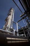 Gas Compressor Plant Tower and Piping Stock Image