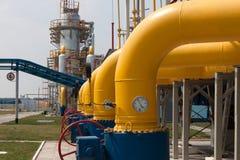 Gas compressor station Stock Photo