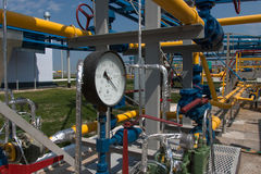 Gas compressor station Royalty Free Stock Photos