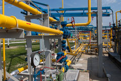 Gas compressor station Royalty Free Stock Images