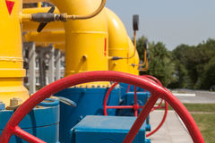Gas compressor station Royalty Free Stock Photography