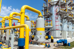 Gas compressor station Royalty Free Stock Photo