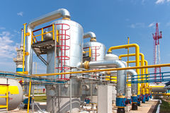 Gas compressor station Stock Image