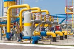 Gas compressor station Stock Images