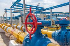 Gas compressor station Royalty Free Stock Image