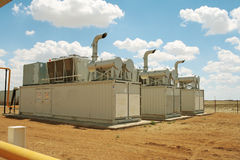 Gas compressors. Royalty Free Stock Image