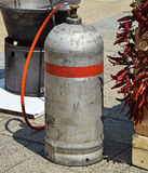 Gas container outdoor. Gas container for cooking outdoor Stock Images