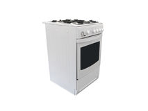 Gas cooker stock photography