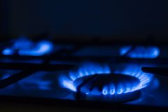 Gas cooker. Torch of a gas cooker on kitchen Stock Photography