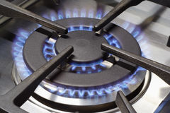 Gas cooker burner. Rapid burner from a gas range cooker royalty free stock image