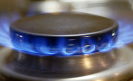 Gas Cooker. Flame of a gas cooker Stock Photos