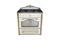 Gas cooker. Isolated under the white background Stock Photography