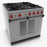 Gas Cooker Oven Royalty Free Stock Photography
