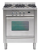 Gas cooker over the white background Royalty Free Stock Photography