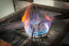 Gas cooking flame Royalty Free Stock Photography