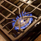 Gas Cooktop Burner Royalty Free Stock Photos