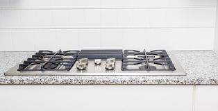 Gas Cooktop on Granite Counter Stock Images