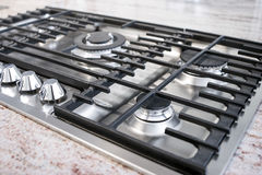 Gas cooktop panel Stock Image