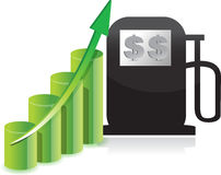 Gas cost increase graph illustration concept Stock Photos