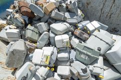 GAS counters in waste landfill Stock Image