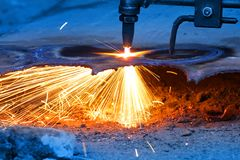 Gas cutting Stock Photography