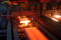 Gas cutting of the hot metal Stock Images