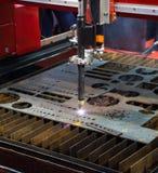 Gas cutting machine. CNC gas cutting machine cut metal sheet Stock Image