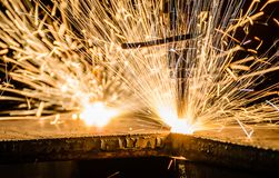 Gas Cutting Of The Metal Royalty Free Stock Image