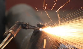 Gas Cutting Royalty Free Stock Photo
