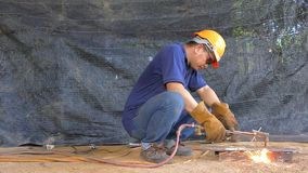 Gas cutting1 stock video