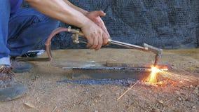 Gas cutting2 stock video