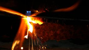 Gas cutting3 stock video footage