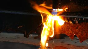 Gas cutting6 stock video footage