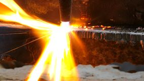 Gas cutting stock video footage
