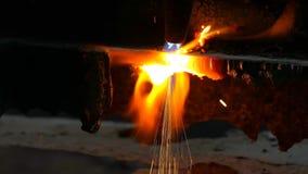 Gas cutting stock video