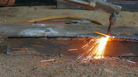 Gas cutting14 stock footage
