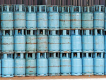 Gas cylinder. An image of a storage area for LPG gas cylinder stock image