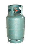 Gas cylinder. Green gas cylinder isolated on white background stock photo