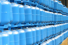Gas cylinder. Storage for delivery stock image