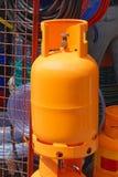Gas cylinder. Big orange gas tank cylinder for home use Stock Images