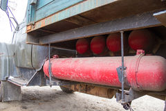 Gas cylinder in a car Royalty Free Stock Images