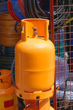 Gas cylinder. Orange gas cylinder for home use Stock Photography