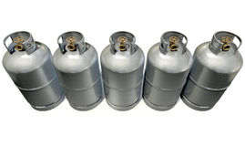 Gas Cylinder Row Stock Photos