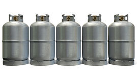 Gas Cylinder Row Royalty Free Stock Photo