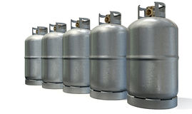 Gas Cylinder Row Royalty Free Stock Photos