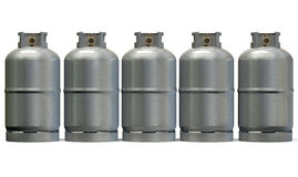 Gas Cylinder Row Royalty Free Stock Images