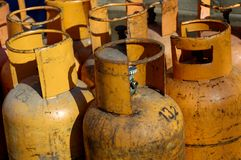 Gas cylinders Stock Images