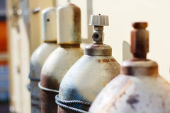 Gas cylinders. Royalty Free Stock Images