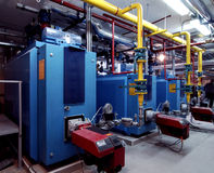 Gas Dampfkessel-Haus Stockbild